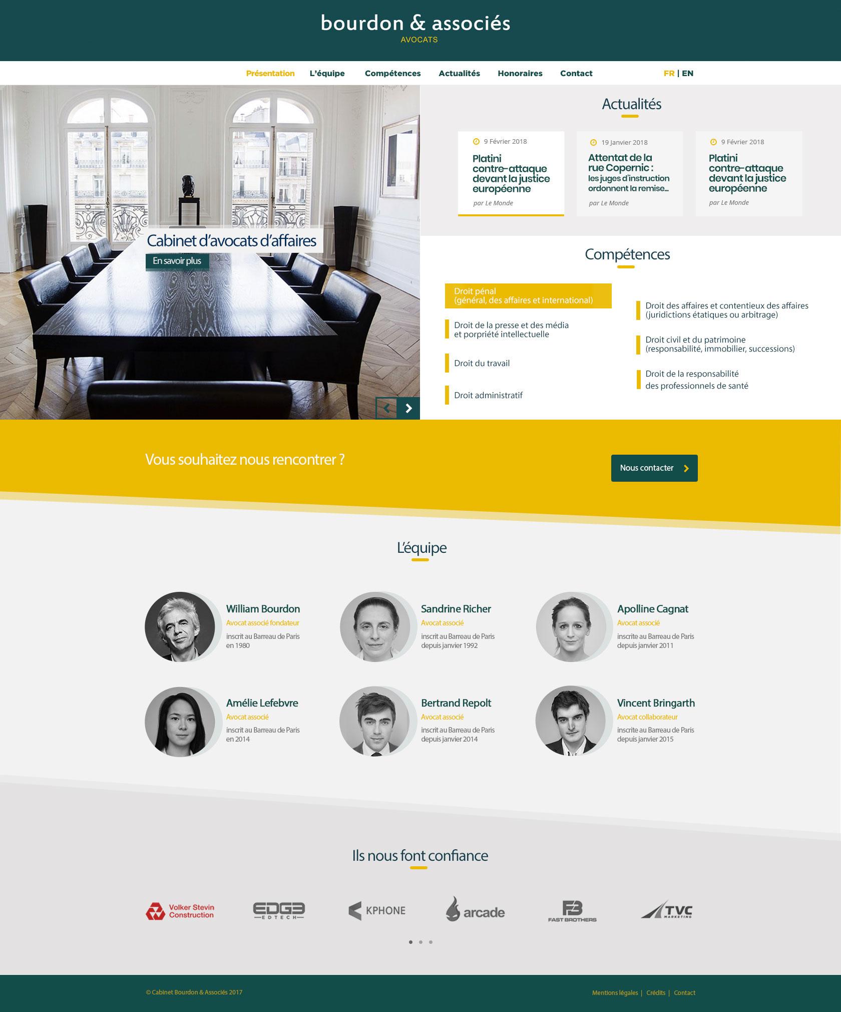 Bourdon & Associés Site Web