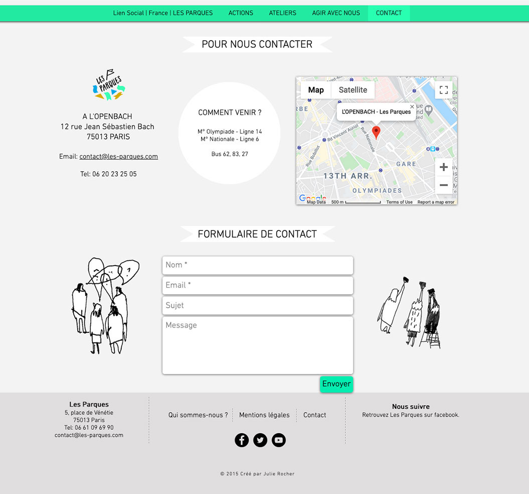 Les Parques Site Web