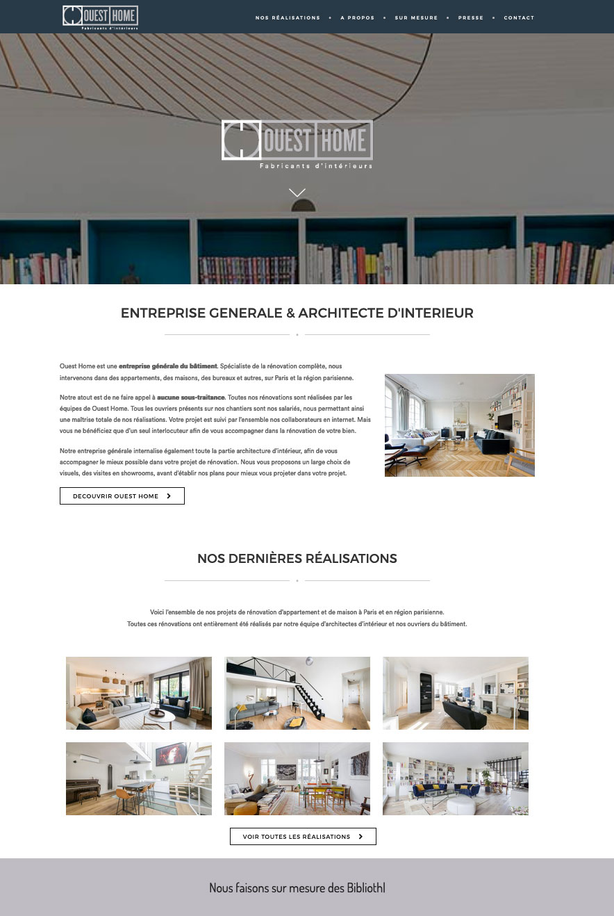 Ouest Home Site Web